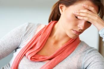 woman with hormone imbalance